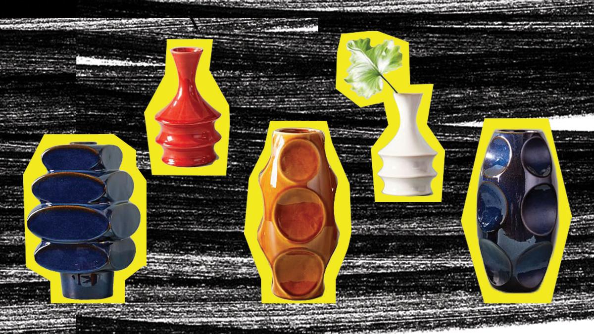 Retro vases  yellow 1200x675