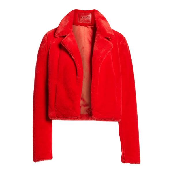 Blanknyc cropped faux fur jacket