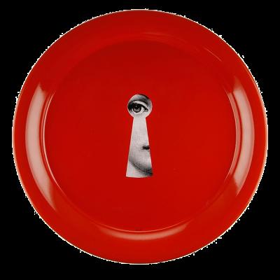 Fornasetti serratura round tray