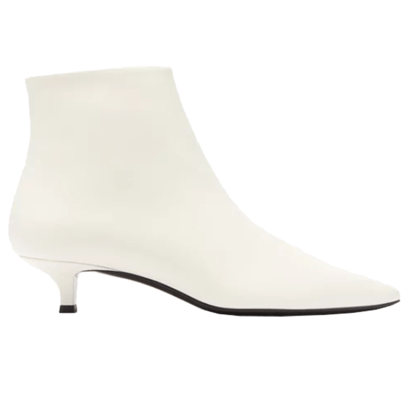 The Row - Coco Point-Toe Leather Ankle