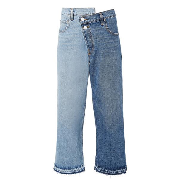 Monse split wash cropped jeans
