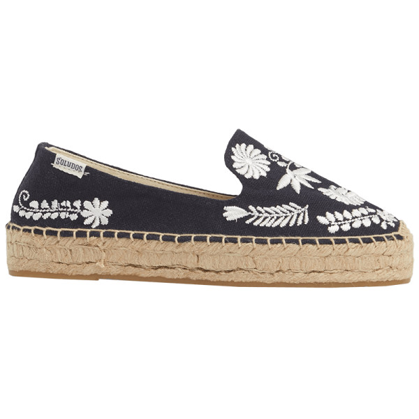 Soludos ibiza embroidered platform smoking slipper