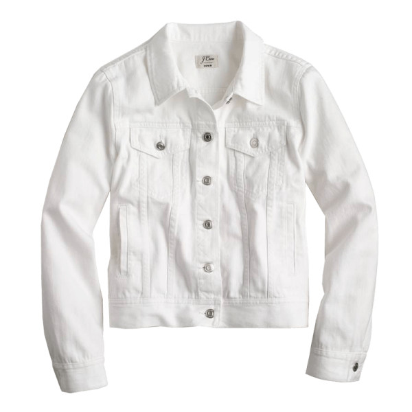 J. crew white denim jacket
