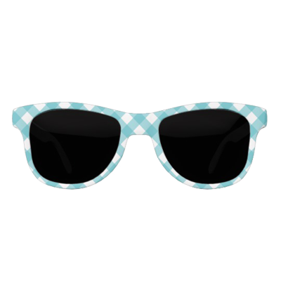 Canvas eyewear chic teal gingham sunglasses