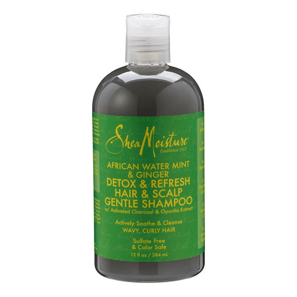 Sheamoisture african water mint   ginger detox   refresh hair   scalp gentle shampoo