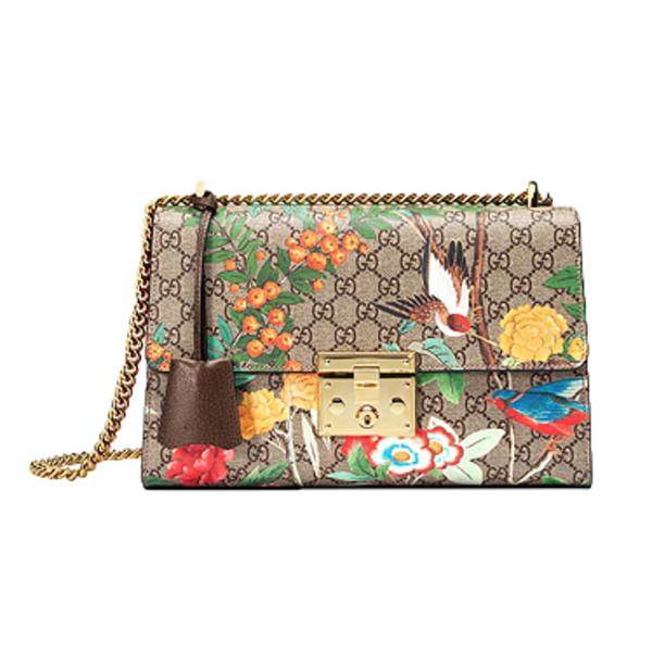 0cef44b0fad Gucci Tian Padlock Shoulder Bag