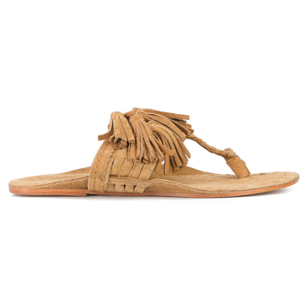 Figue scaramouche suede tassel thong sandal