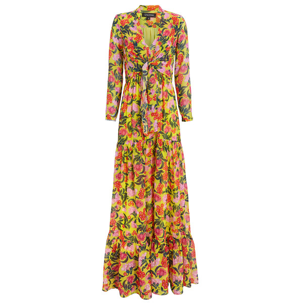 Saloni alexia azalea maxi dress