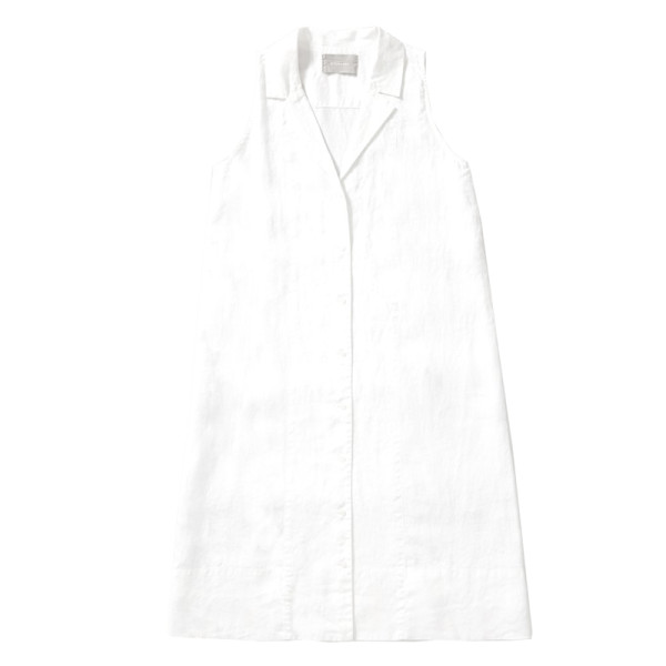 Everlane the linen sleeveless shirtdress