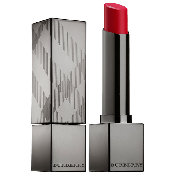 Burberry kisses sheer lipstick in military red