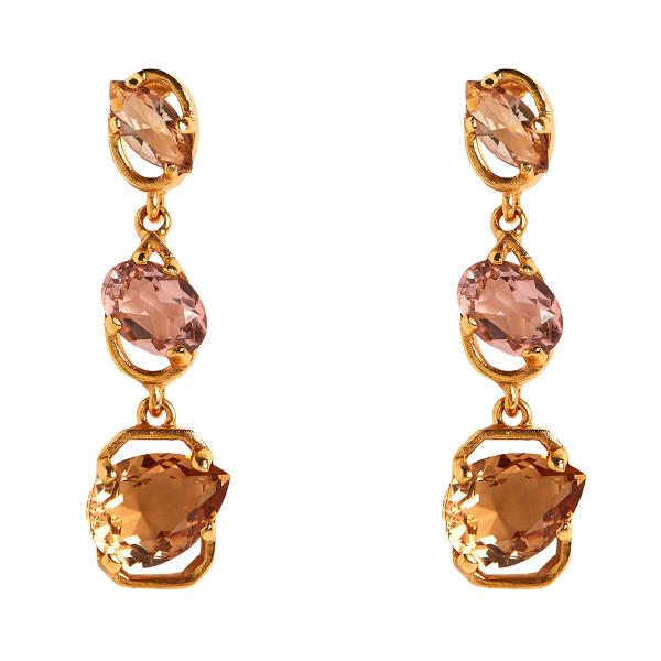 Oscar de la rentatiered crystal earrings