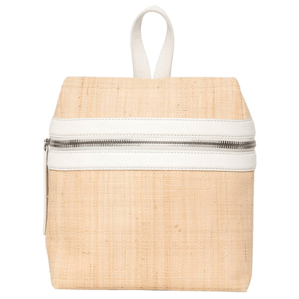 Kara small woven straw backpack