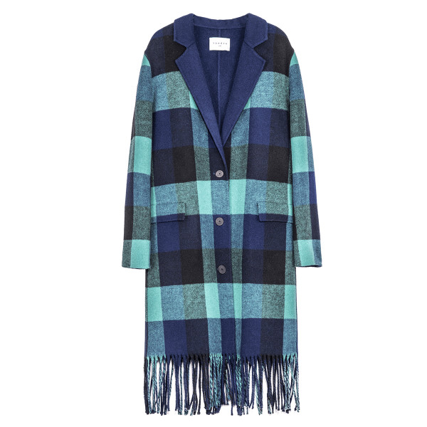 Sandro paris wool fringe coat