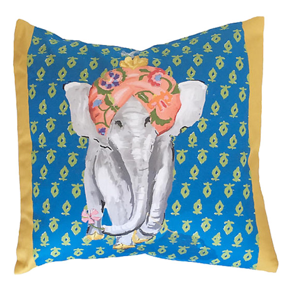 Dana gibson  elephant pillow