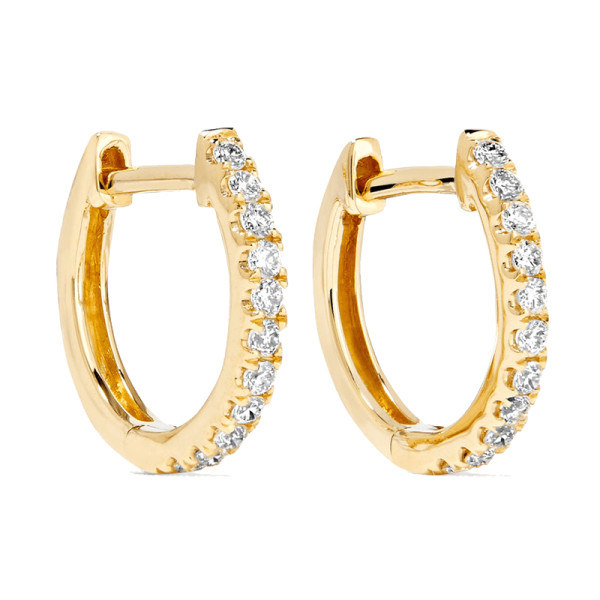 Anita ko huggies 18k gold diamond earrings