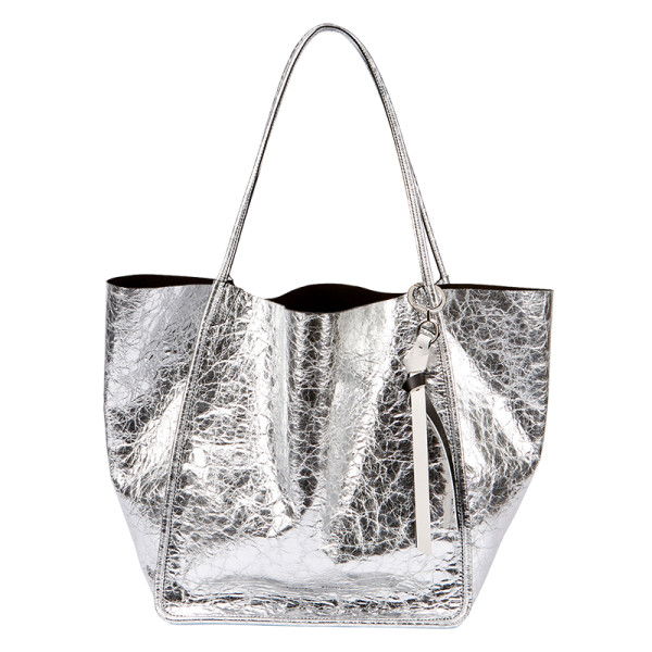 Proenza schouler extra large crackled metallic tote bag