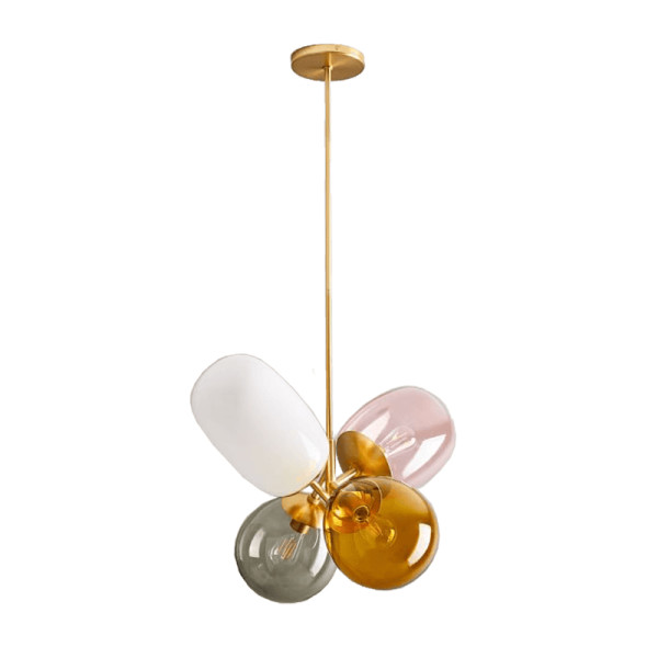 West elm modern balloon glass chandelier