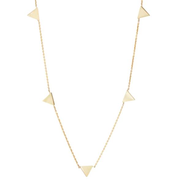 Jennifer meyer triangle charms on chain necklace