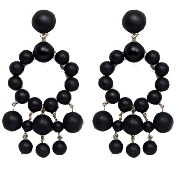 Asos matte bead drop earrings
