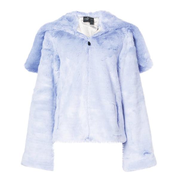 feeb03620ae9 Fenty Puma by Rihanna - Faux-Fur Zip-Front Hooded Oversized Jacket ...
