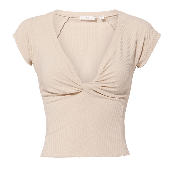 A.l.c sabina twist front crop top