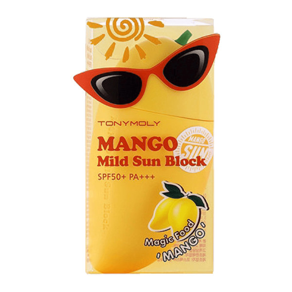 Tonymoly mango mild sunblock spf 50 magic food