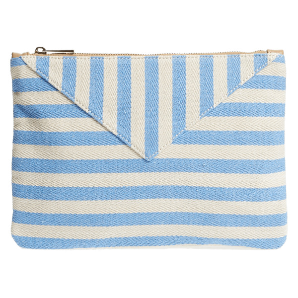 Sole society mini panel stripe pouch