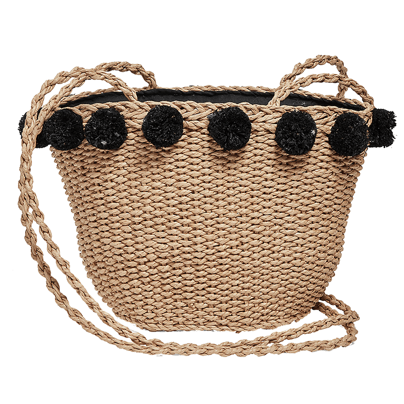 Lucky brand mini straw basket