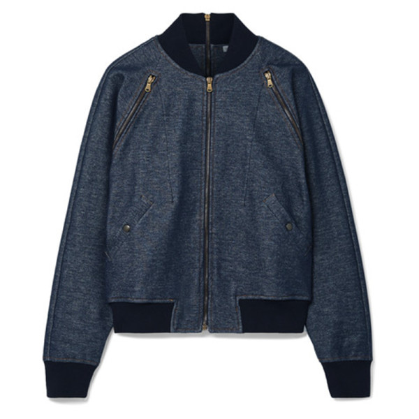 Tomas maier zip detailed bomber jacket