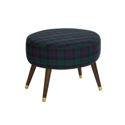 One kings lane   dani ottoman  navy plaid