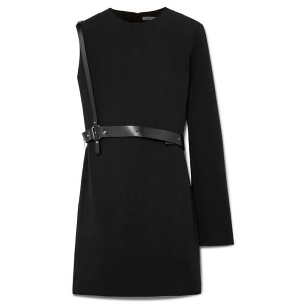 Helmut lang one shoulder belted mini dress