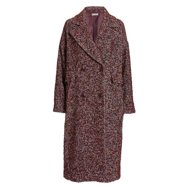Ulla johnson frances flecked tweed double breasted coat