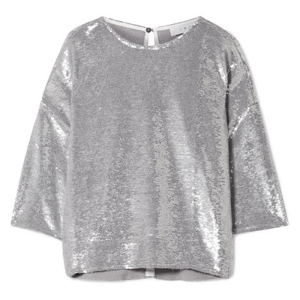 Iro naphe oversized sequined t shirt