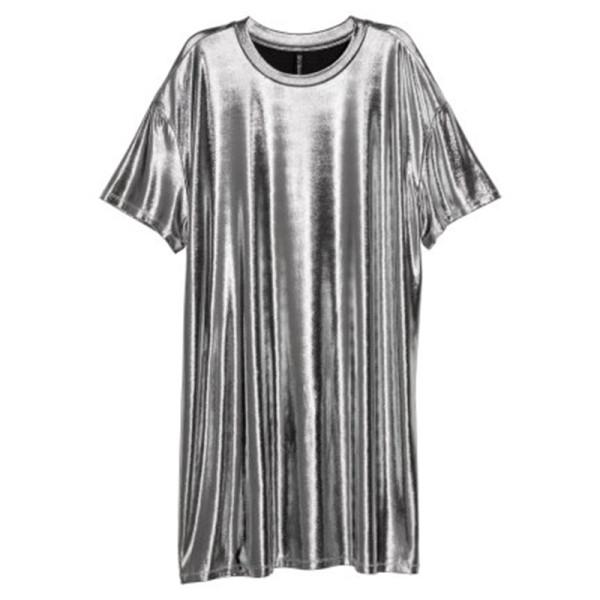 H m coated t shirt dress