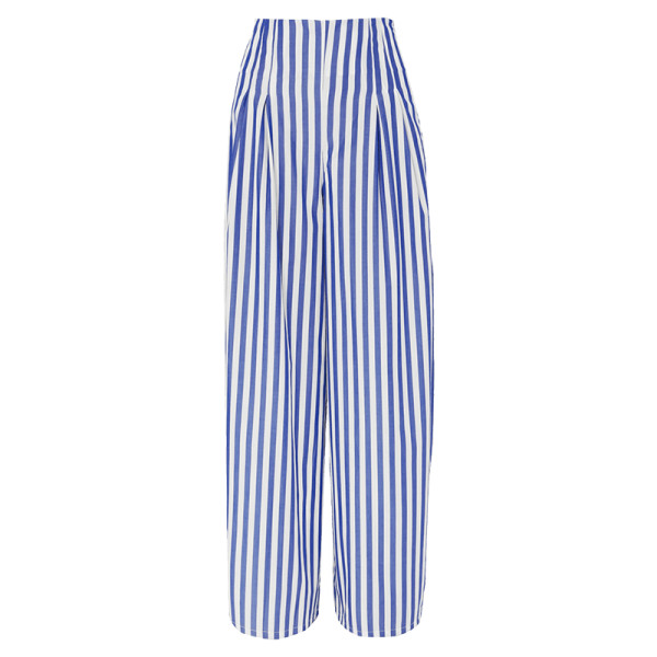 Evi grintela cornella striped cotton poplin wide leg pants