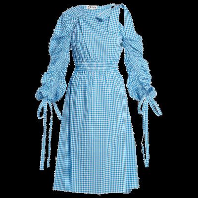Teija asymmetric cotton gingham dress