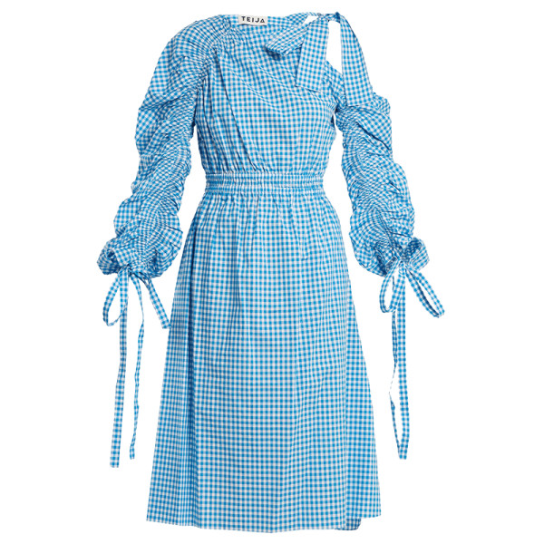 Teija asymmetric cotton gingham dress