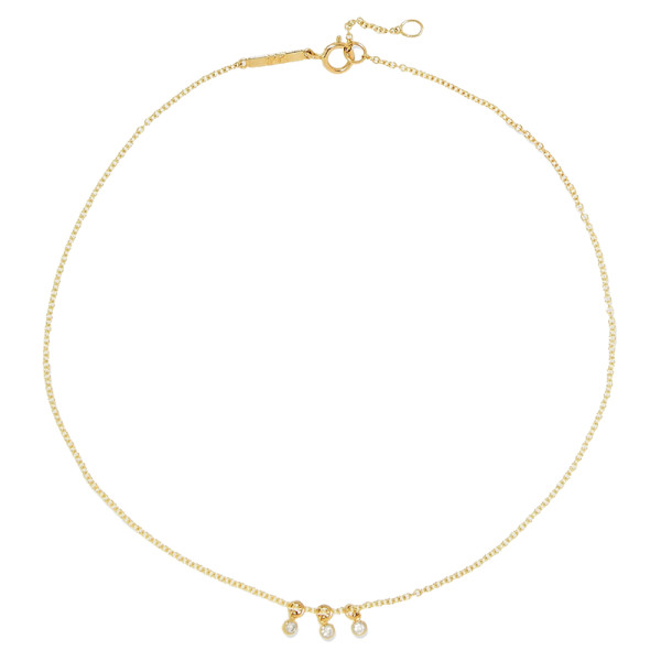 Grace lee dot 14k gold diamond anklet