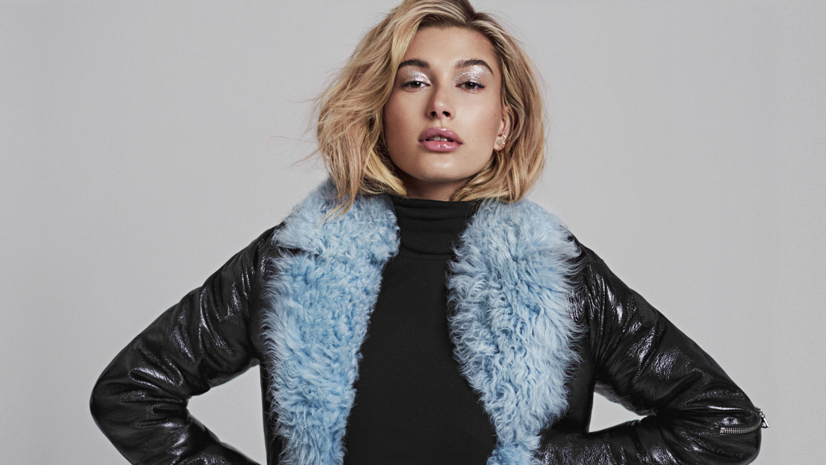 Updated hailey blue fur jacket