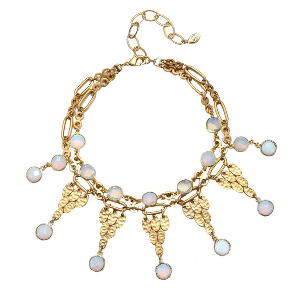 Sequin abaco statement choker necklace