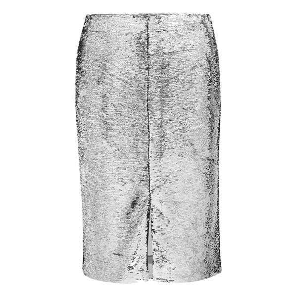 Ganni sonora sequined satin skirt