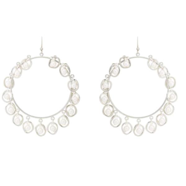 Mounser half shell hoop earrings