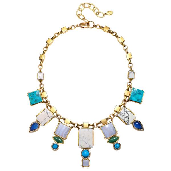 Sequin reef statement necklace