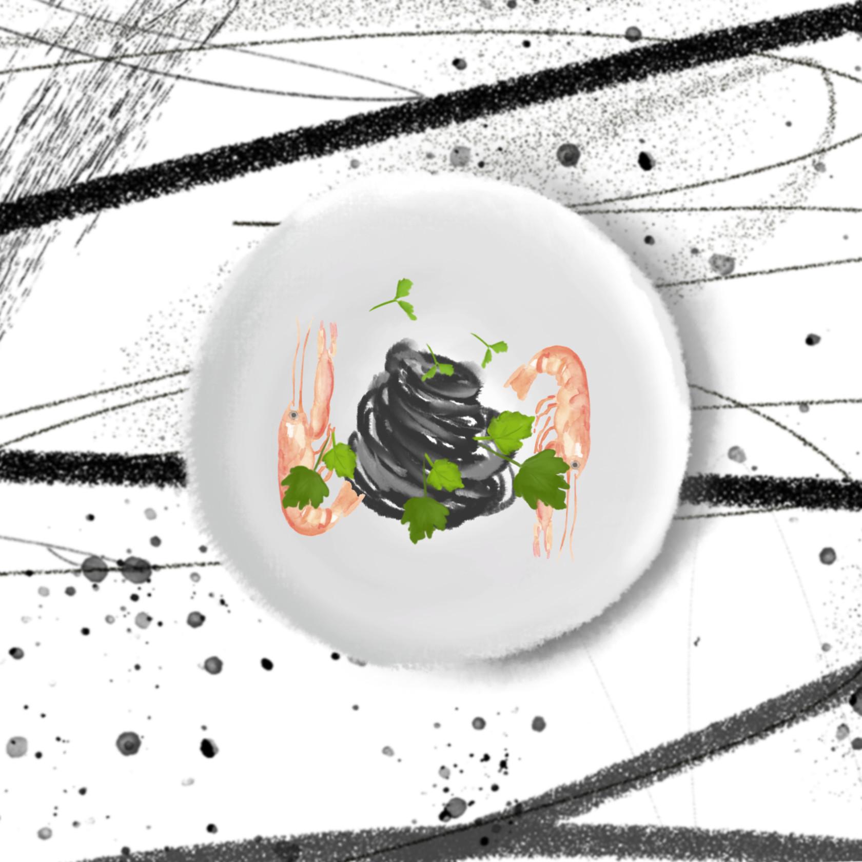1200x1200 black spaghetti