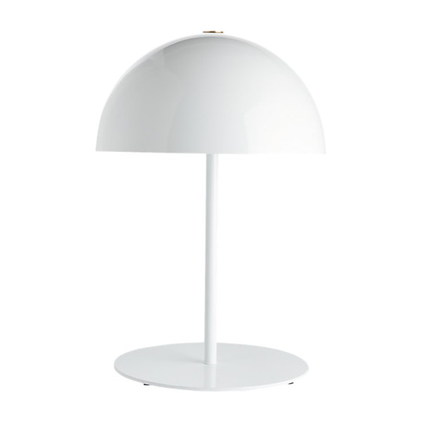 Cb2 hanna white table lamp
