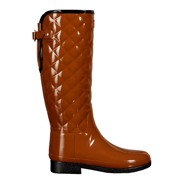 503ede44ece2 Hunter Boot - Adjustable Quilted Gloss Rain Boots in Thicket
