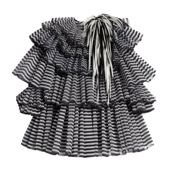 Marc jacobs pleated tiered organza dress