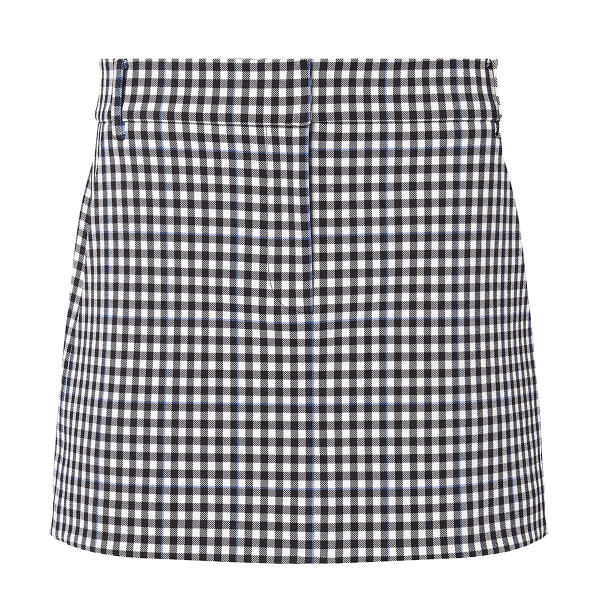 Tibi gingham mini skirt