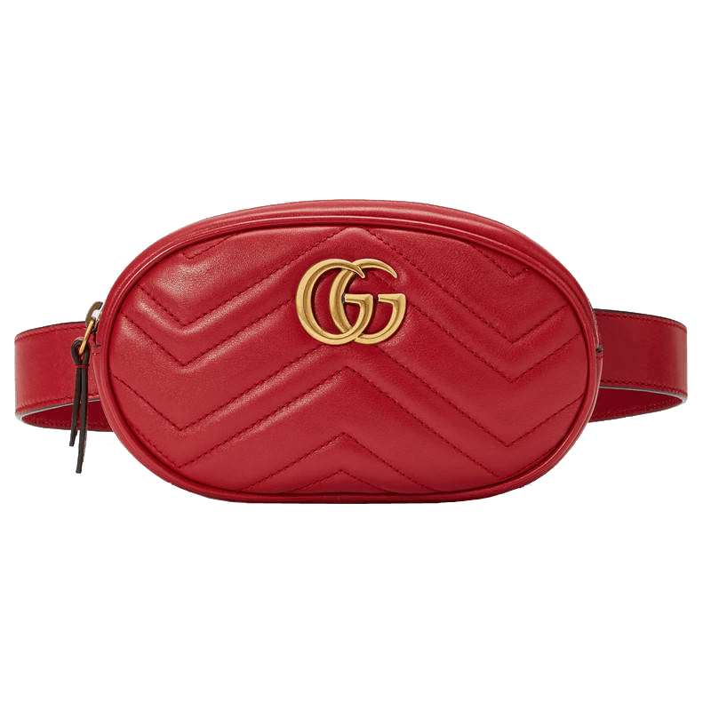 Gucci gg marmont matelasse   leather belt bag