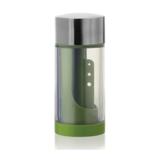 Sur la table microplane stainless steel herb mill with herb stripper